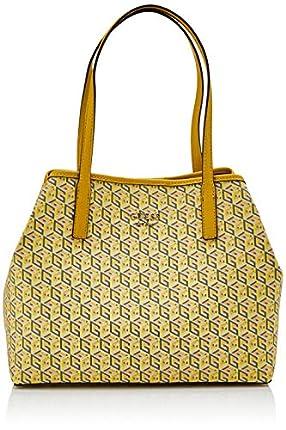 Guess Vikky, Bolso tipo tote para Mujer, Multicolor (Yellow Multi), 15x27x33 Centimeters (W x H x L)