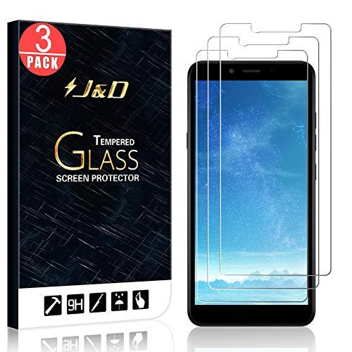 JundD Kompatibel für LG K20 Panzerglas Schutzfolie, 3er Packung [Vorgespanntes Glas] [Nicht Ganze Deckung] Glas Bildschirmschutz für LG K20 Panzerglas Bildschirmschutzfolie