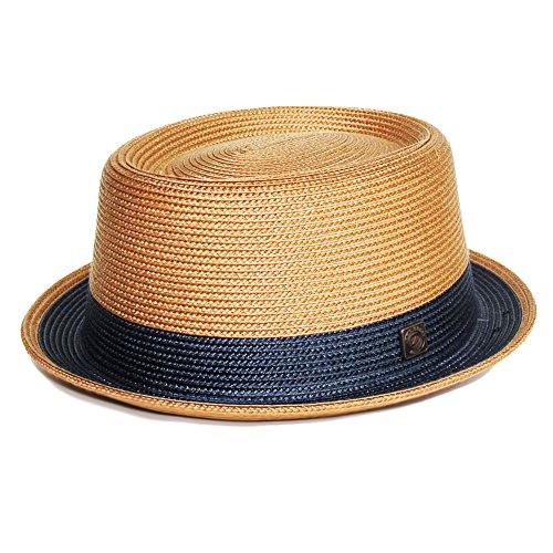 DASMARCA Bobby Tan Crushable & Packable Porkpie Summer Hat - XL