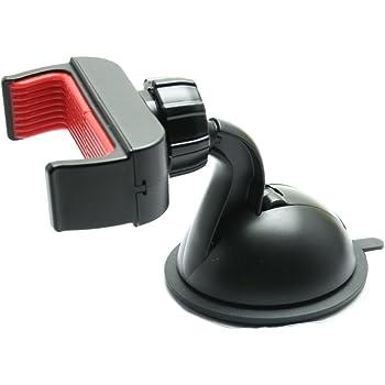 オウルテック 車載ホルダー 各種スマホ対応  幅57~83mm ゲル吸盤取付式 360度回転 ブラック