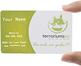 Custom 500 PCS Frosted Plastic Personalize Business Cards, Full Color Printed, 0.38mm Thickness