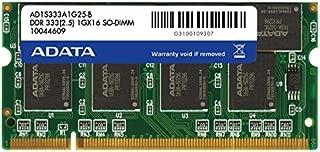 ADATA 1 GB DDR-333 (PC-2700) SO-DIMM Memory Module AD1S333A1G25R (Black)