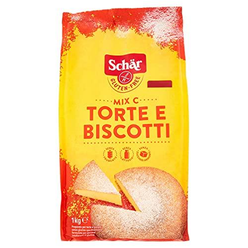 Schär Mix Dolci - Mix C Preparación para tartas y bizcochos sin gluten, 5 x 1000 gr