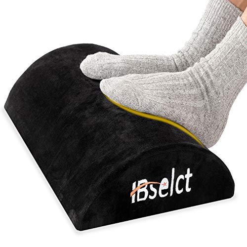 HBselect Füßauflage aus druckausgleichendem Memory Foam Fußkissen Fußstütze Fußablage Ergonomisches Fußstützenkissen mit Antrutschbeschichtung (Flanell, 1 Teil)