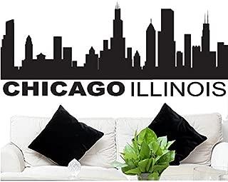 FGD Wall Decal Sticker Chicago Skyline 22