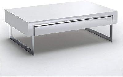 MerkaHome Mesa de Centro Zen elevable lacada (Blanco ...