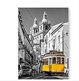 DPFRY Leinwanddruck Portugal Lissabon Historische