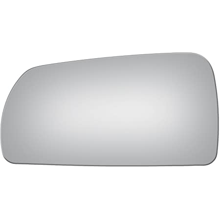 exactafit 8318L Driver Side Mirror Glass Replacement Plus 3m Adhesives Compatible With 2005-2007 Cadillac STS Left Hand Door Wing LH
