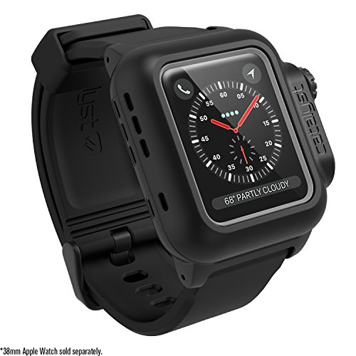 Catalyst 330ft Waterproof Case for Apple Watch 38mm Series 3 & 2 Rugged iWatch Protective Case, Drop Proof Shock Proof Impact Resistant for Apple Watch, Stealth Black