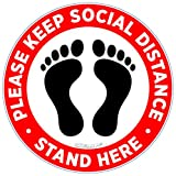 Pack of 10. Please Practice Social distancing Floor Sign. Covid 19 Coronavirus Safety Sign. 7