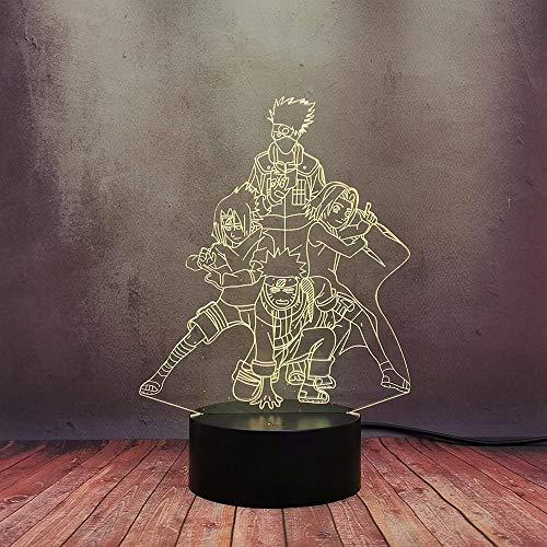 Bola de Dragón Z 3D LED Luz de noche,3D illusion lamp, Lámpara de ilusión 16 colores Lámpara de decoración Cambio 3D Ilusión óptica Lámpara,