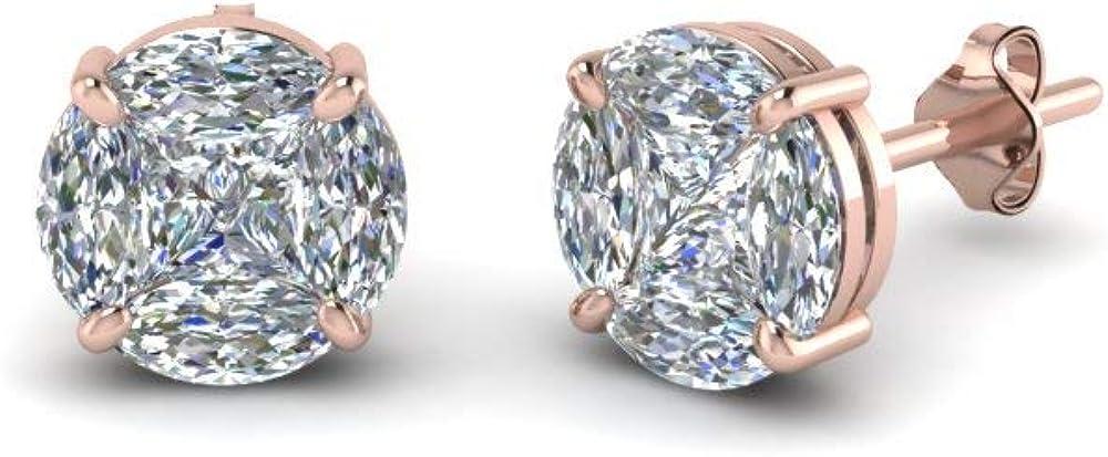 Indi Gold Diamond Jewelry D Cut New sales El Paso Mall VVS1 Round Party Fancy