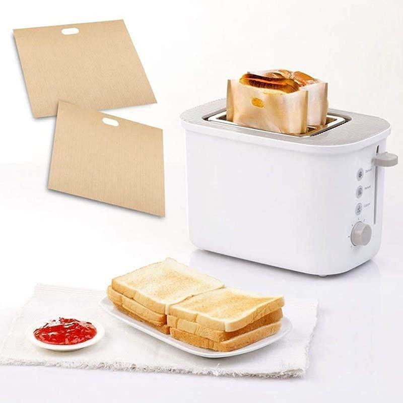 Purra145 Sandwich Toaster Bag 10 Pcs Reusable Toast Bag Sandwich Omelette Bags 16X16 5Cm 16X18Cm 17X19Cm
