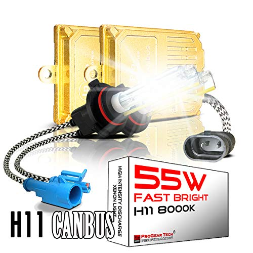 55 W H8 H9 H11 H16 Hochleistungs-Canbus AC HID Xenon Umbausets für 12 V Fahrzeuge (8000 K Iceberg)