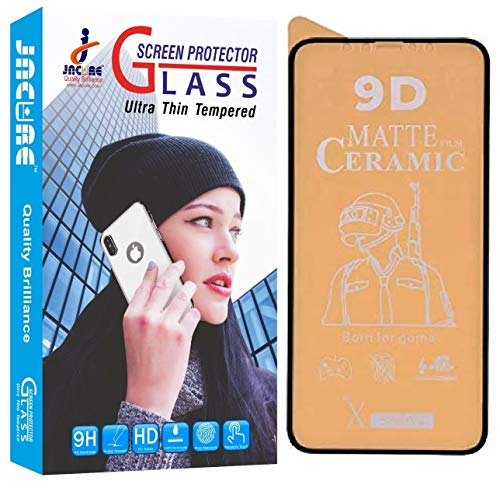 Jacure® Design for Samsung Galaxy 31s Screen Protector Ceramic Anti Glare 3D Tempered Glass Screen Protective Film Shock Proof [Bubble-Free] Galaxy M31s HD Clear Screen Guard (Black)