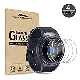 AKWOX [Lot de 4] Vitre Verre Trempé Samsung Gear S2 Classic/Gear Sport, Film de...