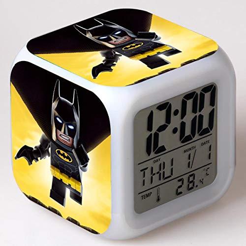 xiaohuhu Batman big Movie LED Sept Couleurs créatives réveil Humeur Cadeaux pour Enfants