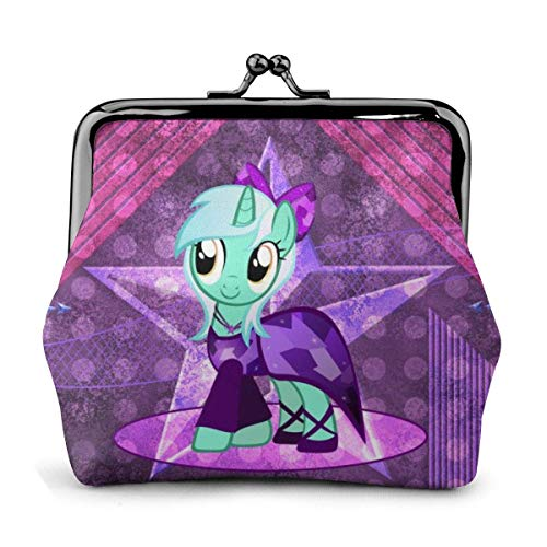 Anime Cartoon My Little Pony Coin Purse t Purses Credit Cards Pouch Lo Exquisite Bule Make Up Cellphone Change Women Leather Cash Coin Purses ts