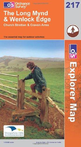 OS Explorer map 217 : The Long Mynd & Wenlock Edge