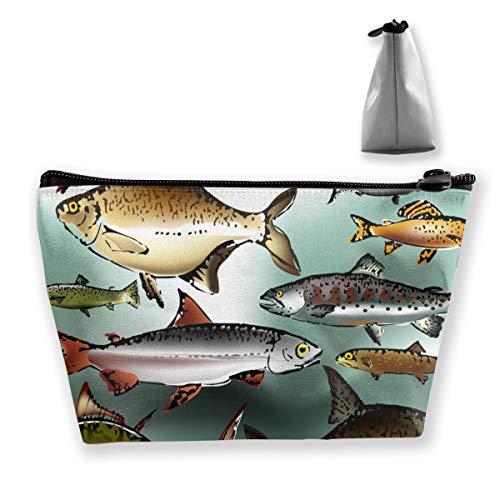 Fish Collection Trousse de maquillage portable pour femme et fille