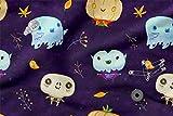 Bedruckte Baumwolle 100% Eco-Print Halloween Monster Nacht