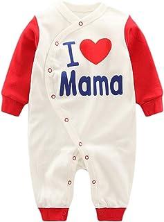 Anywow Anywow Neugeborenen Unisex Baby Overall Säugling Baby Mädchen Jungen Body I Love Mama Papa Süße Zwillinge Strampler 0-12 Monate