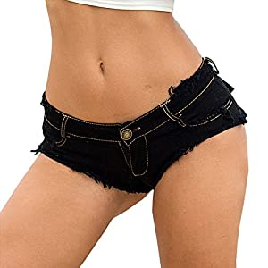 Women's Low Waist Sexy Denim Short Hot Pants Sexy Mini Jeans Shorts