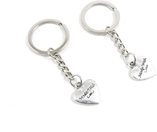 Metal Antique Silver Plated Keychains Keyrings Keytag H1TP9 Love Handmade Signs Tag Key Chain Ring