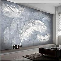 Xbwy 装飾壁画現代のファッションの羽の壁紙手描きの壁の壁画のリビングルームのベッドルーム高級アート壁紙-250X175Cm