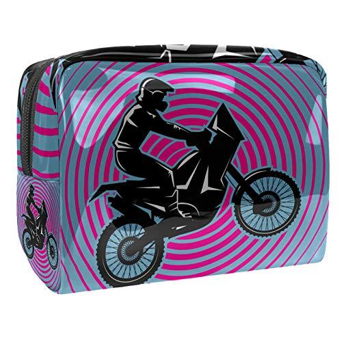 Bolsa de maquillaje portátil con cremallera bolsa de aseo de viaje para las mujeres práctico almacenamiento cosmético bolsa spinning motocicleta