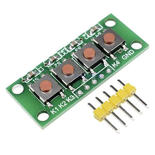 Weit verbreitet 20 STÜCKE 1X4 4 Headstone-Taste 5-Pin-Tastatur-Tastatur-Modul MCU-Board for Studentenklasse-Design-Abschluss-Projekt-Experiment DIY-Kit for Arduino - Produkte, die mit verschriebenen A