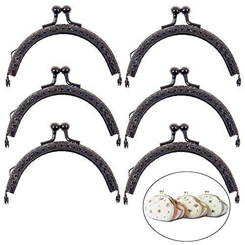 Halbrund-Rahmen mit Schluesselring zum Basteln 4x3,5cm Yeenee 5 Silbern Taschenrahmen Verschluesse Fuer Handwerkliche Taschen oder Geldbeutel