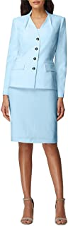 Tahari by ASL Women's Flap Pocket Jacket with Pencil Skirt
