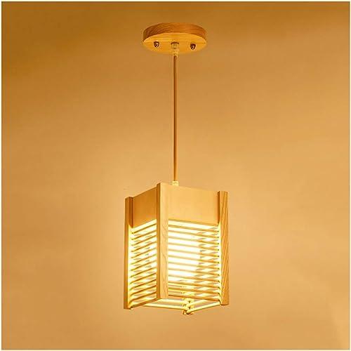 Lampes suspendues intérieures Lumière pendentife Simple Bois Art Salon Décor Plafond Lampe Chambre étude Balcon Restaurant Café Bar Bureau Lustre (taille   1 tête)