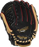 Rawlings Playmaker Youth Baseball Glove, 10.5 inch, Basket Web, Right Hand Throw, Black/Camel/Red, MODPM105BCCS-6/0, MODPM105BCCS-6/0, MODPM105BCCS-6/0, MODPM105BCCS-6/0