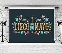 HD 7x5ft 5月5日シンコデマヨのメキシコのカーニバルの背景パーティー写真の背景プロップスタジオのカスタマイズ