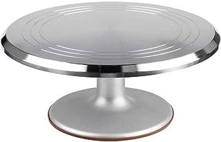 ケーキ回転台 アルミ合金 回転 陶泥盤盆栽回転台 お菓子作り用 再利用可能 ケーキスタンド 滑り止め 製菓道具