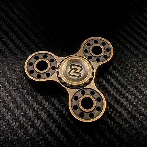 High Speed Hand Spinner for Kids EDC Fidget Toys Classic Mechanical Style ADHD Anxiety Spinner Toy Anti Anxiety Fidget Hand Stainless Steel Bearing Stress Relief Toys for Adults (Color : Old brass)