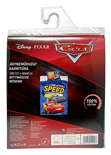 Disney Cars Bettbezug-Set für Kinderbett, 100x135 +...