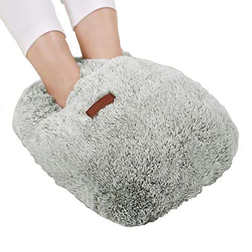 GYAM Calentador pies eléctrico con calefacción, Almohadilla térmica para pies con Bolsa...
