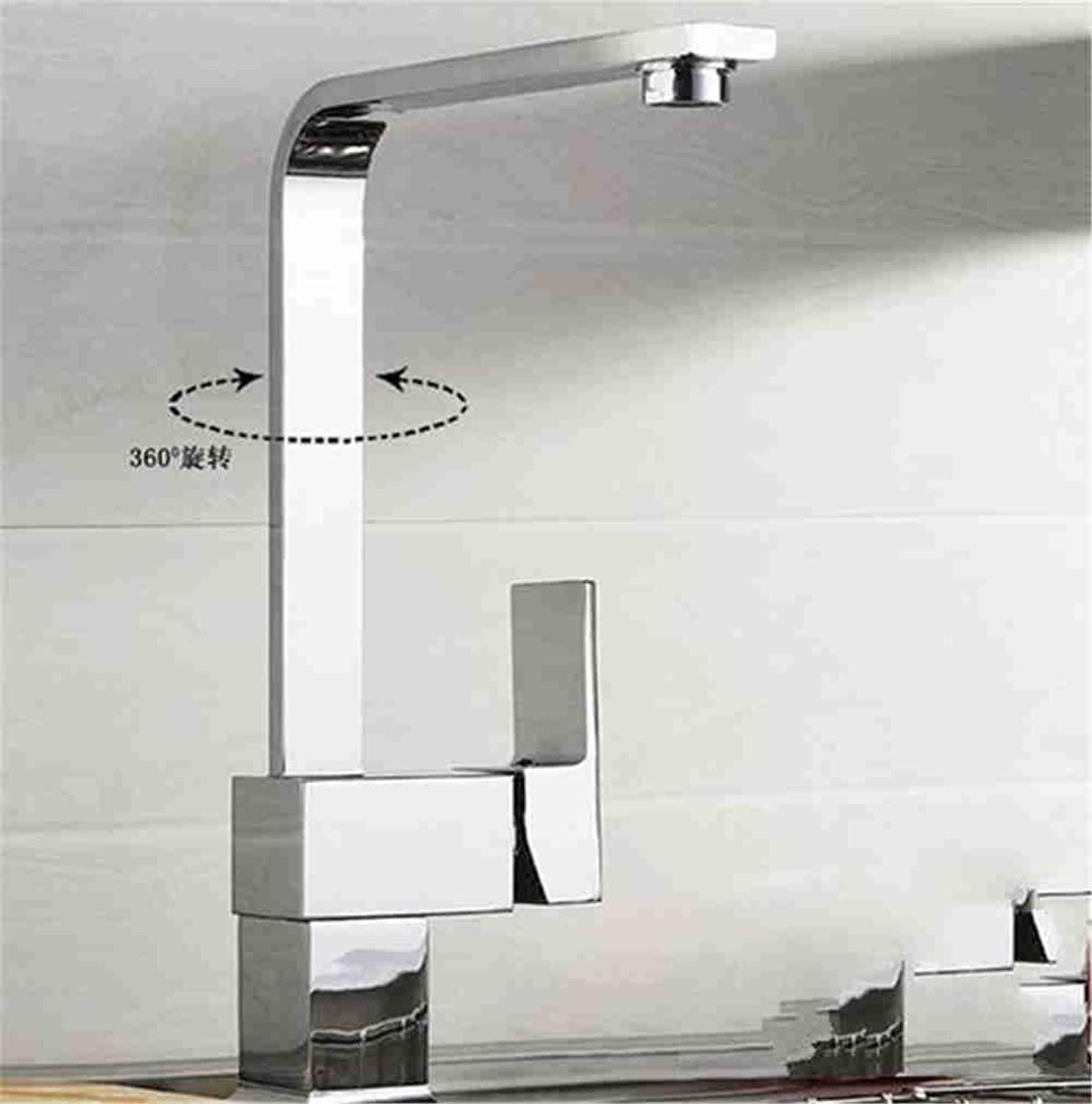 Commercial Kitchen Faucet Stainless Steel Handle Pull Out Kitchen Sink Faucet Kitchen Faucet Sink Faucet hot and Cold Sink Faucet Interface redatable Faucet