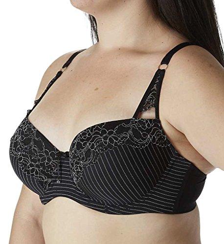 Ashley Graham Showstopper Convertible Lace Contour Bra (401455) 38C/Black