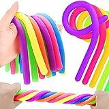 German Trendseller® - 6 x Ultra - Sticky Neon Sling für Kinder ┃ Kindergeburtstag ┃ Mitgebsel ┃ Stretchy Noodles ┃ 6 Stück
