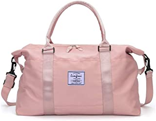 """Gym Bag for Women, Womens Travel Bags, Weekender Carry On, Workout Duffel Bag with Dry Wet Pocket, Overnight Shoulder Bag Fit 15.6"""" Laptop"""
