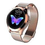 LUNIQUESHOP Round Smartwatch Donna Orologio Fitness con Interfaccia Dinamica Contapassi Cardiofrequenzimetro Notifiche Messaggi per Android iOS