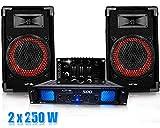 Inconnu Pack DJ Sound Mix tafel, Amp 2x250W + Kabels
