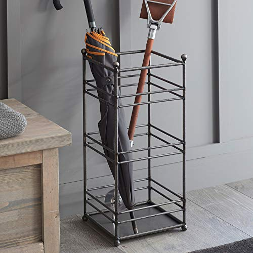 CKB Ltd Regenschirmständer – Traditionelles geschweißtes Stangen-Design – Metallbodenregal freistehend auch für Gehstöcke/Gehstöcke Flurmöbel – hergestellt aus Stahl
