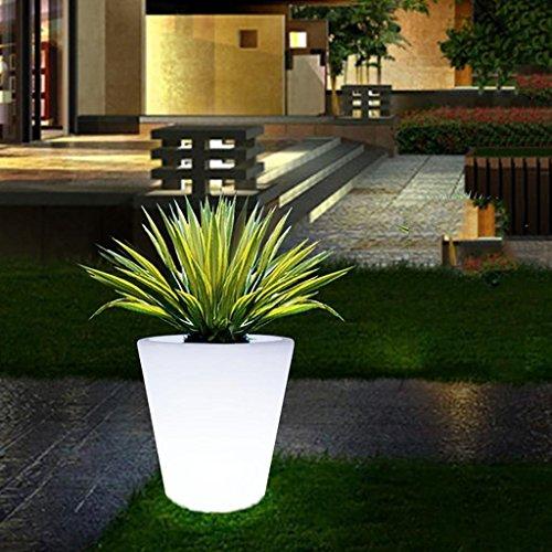Augrous Oplaadbare led-bloempot lamp, waterdicht, 16 kleuren, met afstandsbediening, voor thuis, tuindecoratie