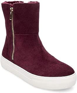 Womens Garrson Bootie Leather Round Toe, Burgundy Suede, Size 9.5