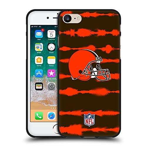 Head Case Designs Licenza Ufficiale NFL Stampa a Strisce Acquerello Cleveland Brown Art Cover Nera in Morbido Gel Compatibile con Apple iPhone 7 / iPhone 8 / iPhone SE 2020